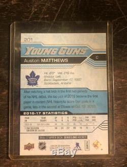 Auston Matthews 2016-17 Upper Deck Young Guns #201 Maple Leafs Rookie MINT