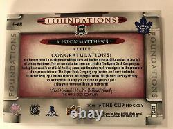 Auston Matthews 2018 19 Upper Deck The Cup Foundations Quad Patch Auto /5