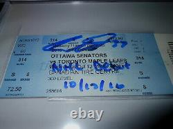 Auston Matthews Auto Signed NHL Debut Ticket 10/12/16 Maple Leafs W Insc Beckett