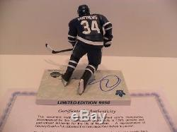 Auston Matthews Autograph Signed Toronto Maple Leaf Imports Dragon McFarlane COA