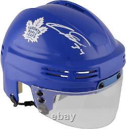 Auston Matthews Maple Leafs Signed Blue Mini Helmet Fanatics