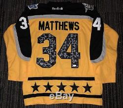 Auston Matthews Signed 2017 NHL All Star Game Jersey Toronto Maple Leafs+jsa Coa