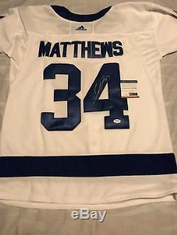 Auston Matthews Signed Autographed Toronto Maple Leafs Jersey Roy Psa/Dna