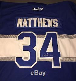 Auston Matthews Signed Autographed Toronto Maple Leafs Reebok Replica Jersey Roy