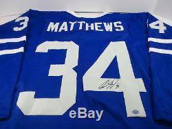 Auston Matthews Signed Maple Leafs Jersey / #1 Pick overall 2016 NHL Draft / COA