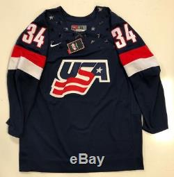 Auston Matthews Signed Team USA Nike Jersey Psa/dna Coa XL Toronto Maple Leafs