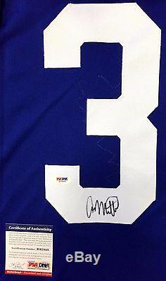 Auston Matthews Signed Toronto Maple Leafs Reebok Jersey NHL 100 Patch Psa Coa