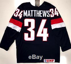 Auston Matthews Team USA Nike 2015 World Juniors Jersey Toronto Maple Leafs New