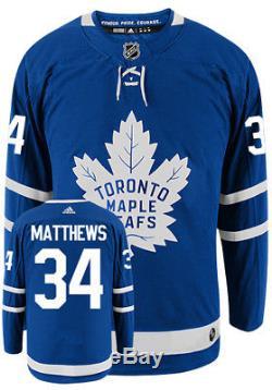 Auston Matthews Toronto Maple Leafs Adidas Authentic Home NHL Hockey Jersey