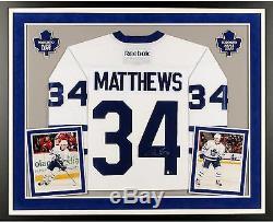 Auston Matthews Toronto Maple Leafs Framed Signed White Reebok Premier Jersey