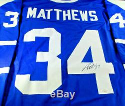Auston Matthews / Toronto Maple Leafs / Hand Signed Custom Hockey Jersey / Coa