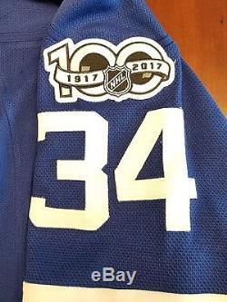 Auston Matthews Toronto Maple Leafs Reebok Premeir NHL Jersey 100 Year Patch