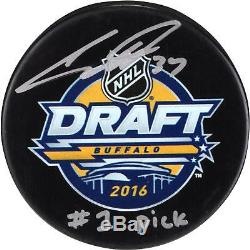 Auston Matthews Toronto Maple Leafs Signed 2016 Draft Logo Puck & #1 Pick Insc