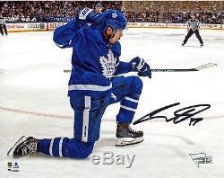 Auston Matthews Toronto Maple Leafs Signed 8 x 10 Goal Celebration Photograph