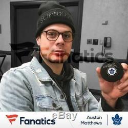 Auston Matthews Toronto Maple Leafs Signed Hockey Puck Fanatics