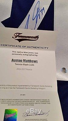 Auston Matthews Toronto Maple Leafs Signed Jersey With COA