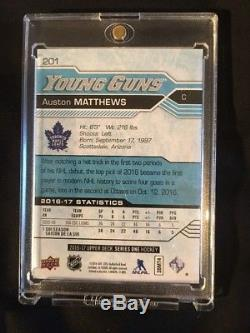 Auston Matthews Young Guns #201 Toronto Maple leafs rookie card