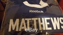 Auston matthews signed toronto maple leafs jersey team certification size large