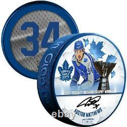 Autographed Auston Matthews Maple Leafs Puck Fanatics Authentic COA