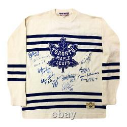 Autographed Toronto Maple Leafs 11 HHOF Signatures
