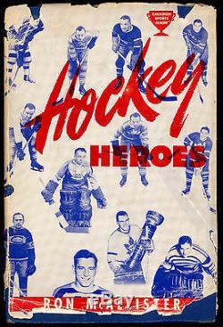 BUSHER JACKSON + 15 HOCKEY PLYERS SIGNATURE AUTOGRAPH on 1949 HEROS BOOK JSA COA