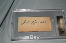 Bill Barilko Toronto Maple leafs Rare Cut autograph slabbed Beckett