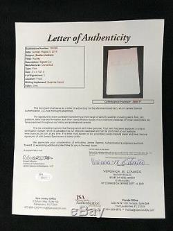Busher Jackson Signed Toronto Maple Leafs Cut Autograph JSA LOA COA