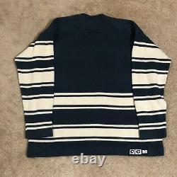 CCM Toronto Maple Leafs NHL Hockey Jersey Vintage Wool Sweater Blue Away XL