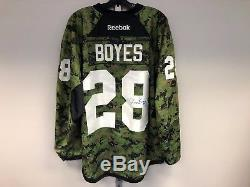 Camo Reebok Toronto Maple Leafs NHL Pro Stock Hockey Player Jersey 56 Brad Boyes