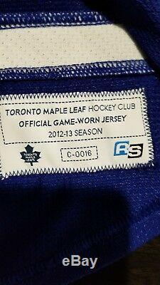 Carl Gunnarsson GAME WORN Toronto Maple Leafs Jersey HOME Real Sports LOA