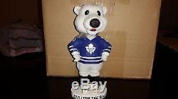 Carlton the bear bobblehead mascot toronto maple leafs rare htf nhl hockey