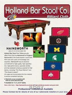 Choose NHL Team Hainsworth Elite-Pro Billiard Pool Table Cloth Size 7-8-9