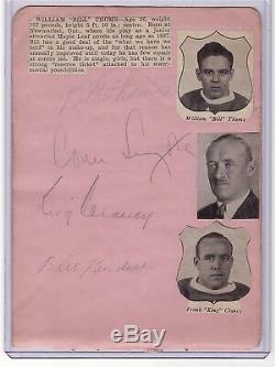 Conn Smythe & King Clancy Signed Toronto Maple Leafs Autograph Album Page Cut