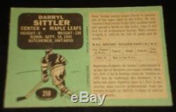 DARRYL SITTLER ROOKIE 1970, O-PEE-CHEE, #218 Toronto Maple Leafs, Hockey Card