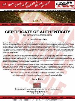 Darryl Sittler Career Jersey Autographed LTD ED 199 Toronto Maple Leafs
