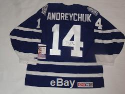 Dave Andreychuk Signed #14 Vintage CCM Toronto Maple Leafs Jersey Jsa Coa Hof
