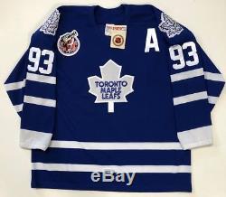 Doug Gilmour 1993 Cup 100th Toronto Maple Leafs CCM Original Maska Jersey XL