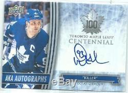 Doug Gilmour 2017 Toronto Centennial Maple Leafs AKA Auto Killer Level A 16206