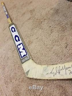 ED BELFOUR 03'04 Signed Toronto Maple Leafs Game Used Hockey Stick NHL COA