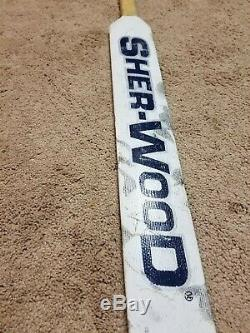 ED BELFOUR 11-7-03 Signed PHOTOMATCHED Toronto Maple Leafs Game Used Stick