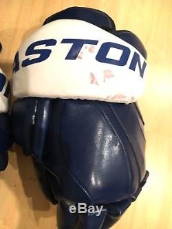 Easton Zero shock PRO STOCK Toronto Maple Leafs Gloves size 14 Forsberg style