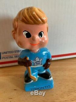 Extremely Rare Vintage 1960s Toronto Maple Leafs 5 Bobble Head Doll Bobblehead