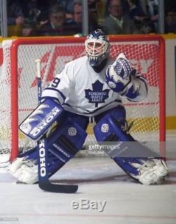 FELIX POTVIN 95'96 PHOTOMATCHED Toronto Maple Leafs Game Worn Blocker NHL COA