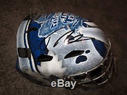 FREDERIK ANDERSEN Toronto Maple Leafs Autographed SIGNED F/S Goalie Mask with COA