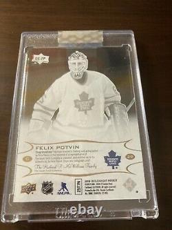 Felix Potvin Clear Cut 2018-19 Autograph 1/1 One Of One Maple Leafs Hockey Card