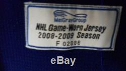 Game Worn 2008-09 Toronto Maple Leafs Hockey Jersey Sz 56 Ryan Hollweg