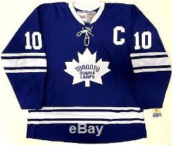 George Armstrong Signed Toronto Maple Leafs CCM Vintage Jersey Psa Coa L77898