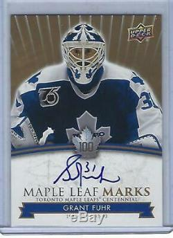 Grant Fuhr 2017 UD Toronto Maple Leafs Centennial Leafs Marks Auto GROUP A