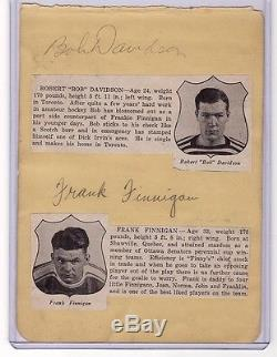 Hap Day Jack Shill Frank Finnigan Signed 1936-37 Toronto Maple Leafs Autograph