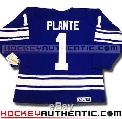 Jacques Plante Toronto Maple Leafs Jersey 1970 CCM Vintage Blue